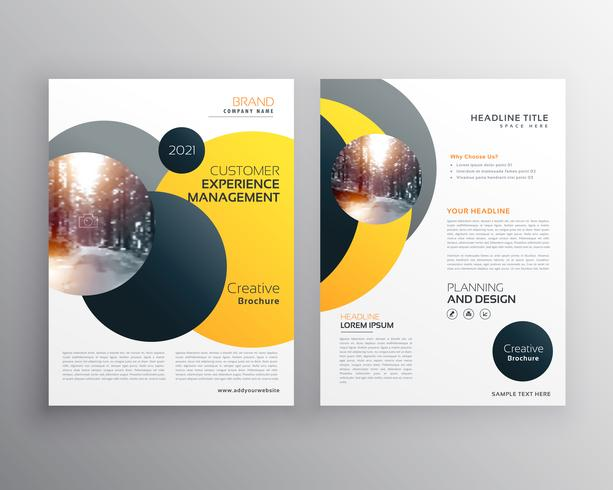 modern yellow geometric flyer poster design template - Download Free