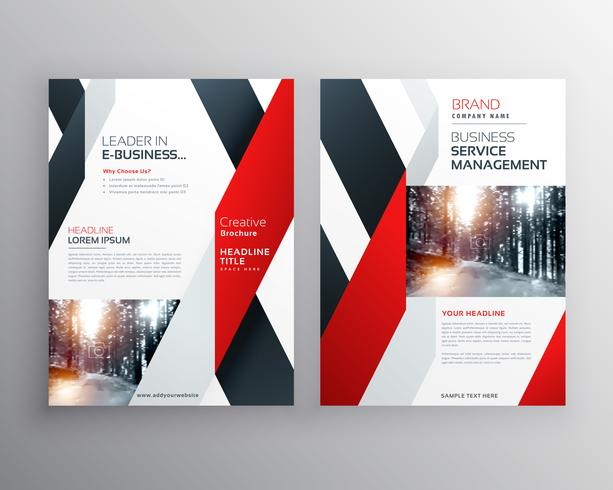 red black geometric shape business flyer poster design template