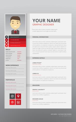 Job Search Curriculum Vitae Template - Download Free Vector Art