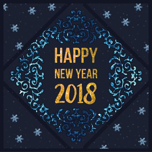 Vector Happy New Year Card - Download Free Vector Art, Stock