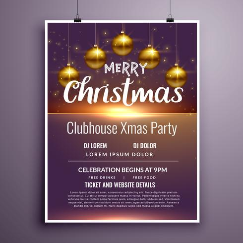 Christmas Party Invitation Free Vector Art - (21488 Free Downloads)