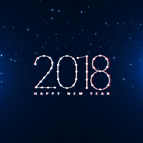 happy new year 2018 design in blue background - Download Free Vector