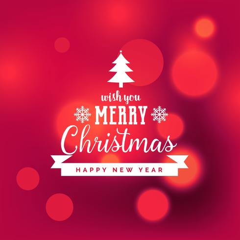 elegant red merry christmas background with bokeh effect - Download