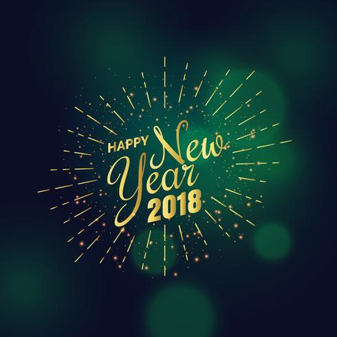 golden 2018 new year greeting background design - Download Free