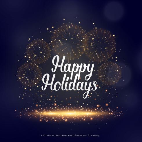 happy holidays seasonal greeting for christmas and new year - happy holidays and new year greetings