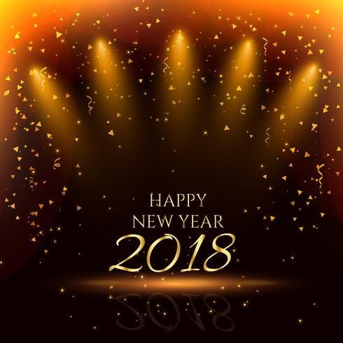 happy new year party background with golden confetti - Download Free