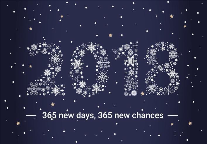 Cartão de cartão de Ano Novo de design plano gratuito - Download