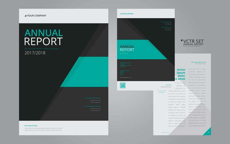 Annual Report Elegant Geometric Flat Design Template - Download Free - annual report template design