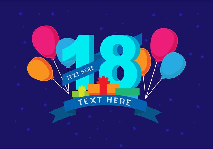 18th Birthday Background - Download Free Vector Art, Stock Graphics