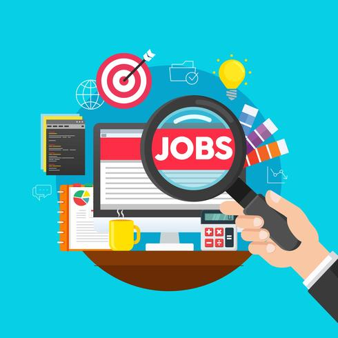 Online Job Searching - Download Free Vector Art, Stock Graphics  Images