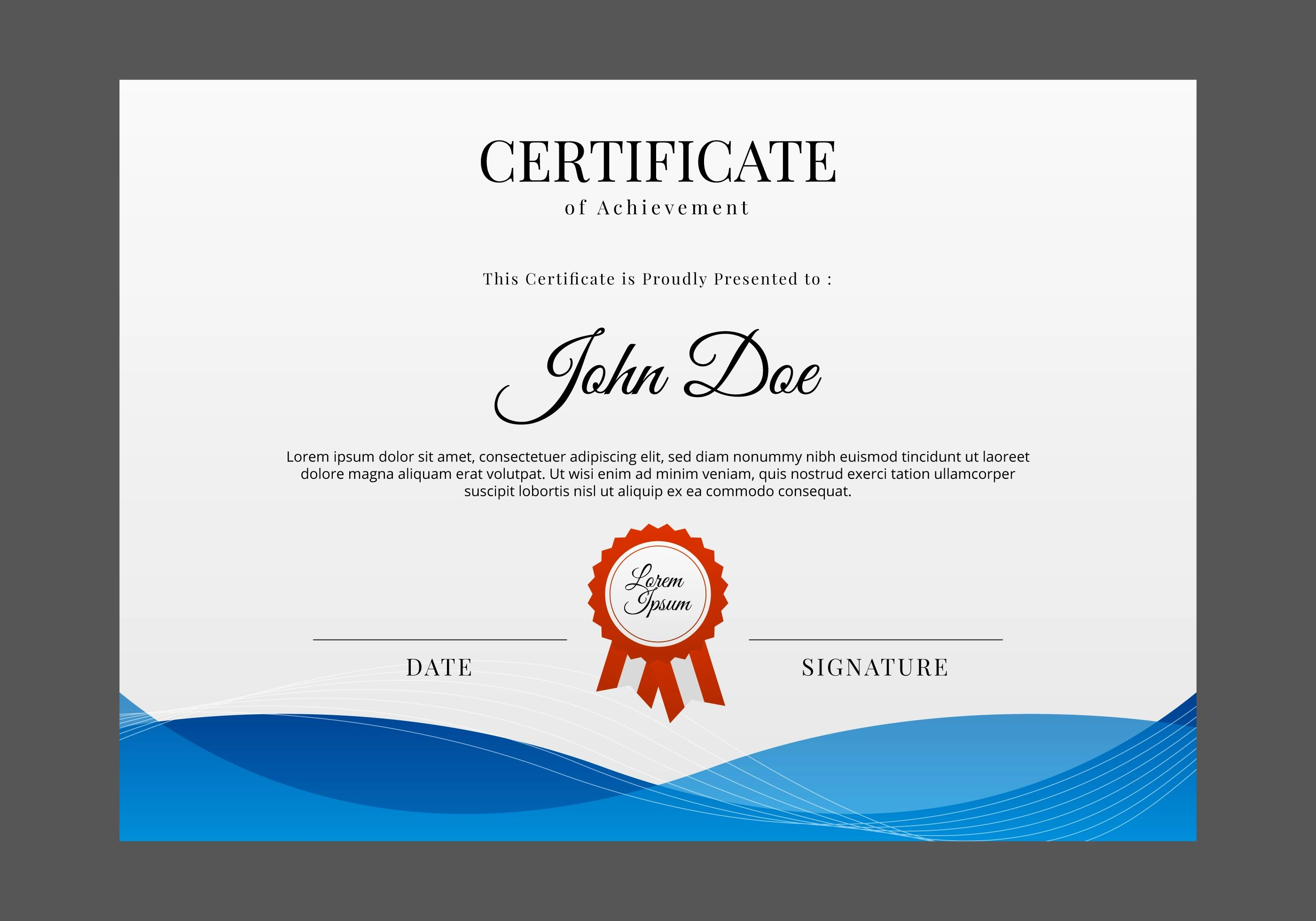 certificat templates