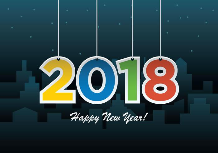 Happy New Year Background Vector - Download Free Vector Art, Stock