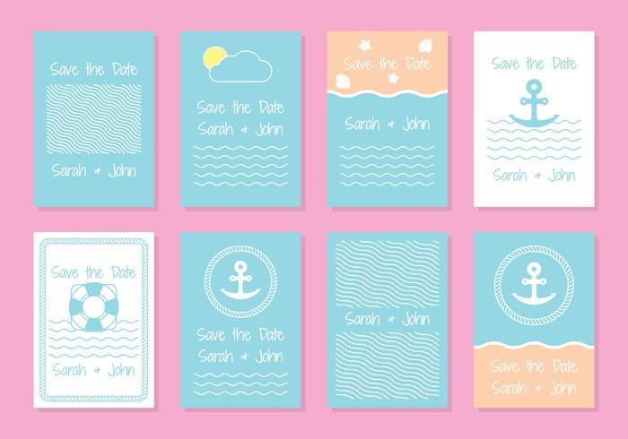 Plantillas de tarjeta de invitación de boda náutica - Descargue - plantillas para invitaciones gratis