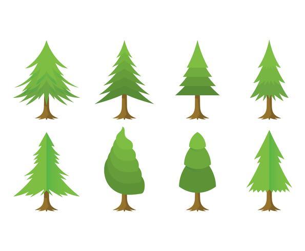 Free Cartoon Christmas Tree Vector Set - Download Free Vector Art