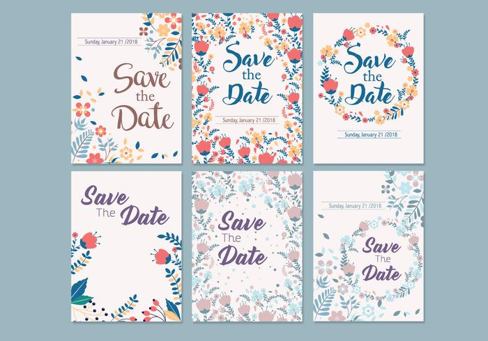 Wedding Save the Date Template Vector - Download Free Vector Art