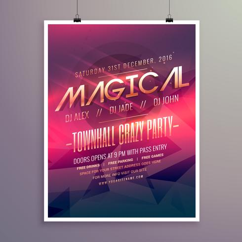 party flyer invitation template with purple color theme - Download - flyer invitation templates free