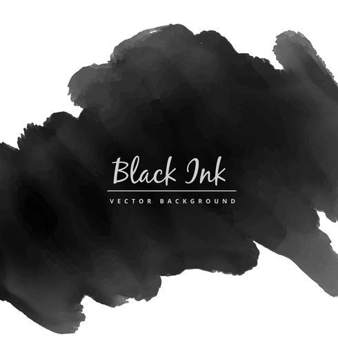 black watercolor ink stain vector design illustration - Download