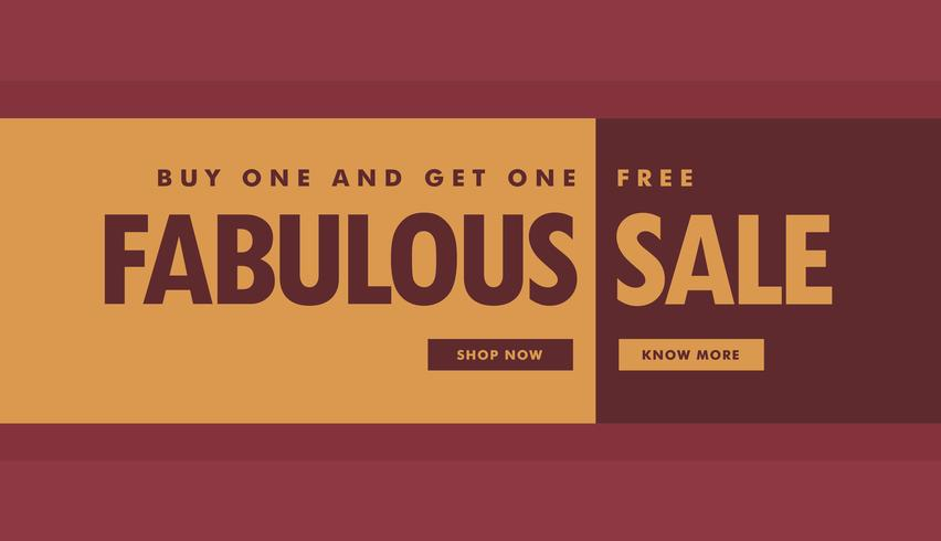 fabulous sale banner poster template for promotion - Download Free