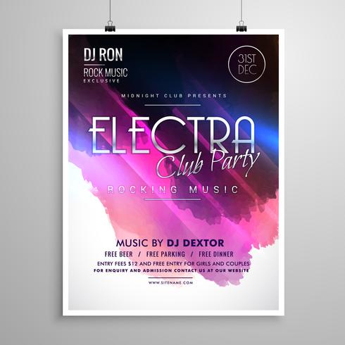 club party event layout flyer brochure template - Download Free
