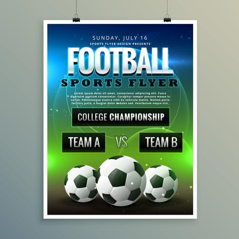 soccer football poster flyer template - Download Free Vector Art