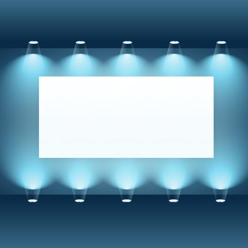 presentation board with spot lights - Download Free Vector Art
