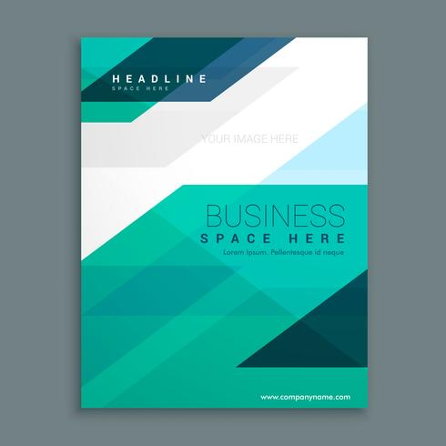 company magazine cover page brochure design - Download Free Vector