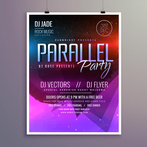 amazing modern music party flyer brochure template - Download Free - party flyer
