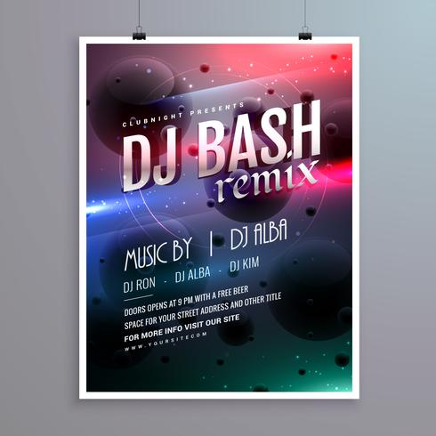 creative music flyer template with abstract background - Download