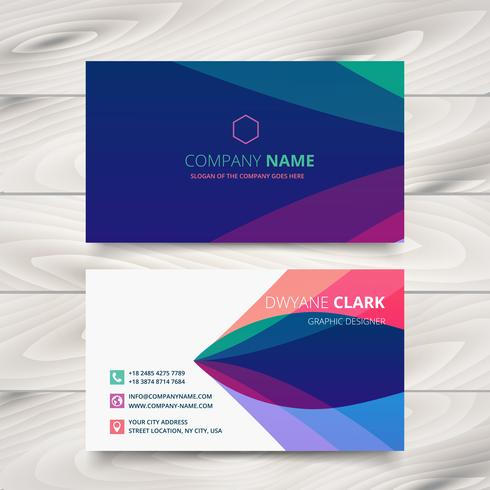 colorful purple stylish business card template design - Download - business card template design