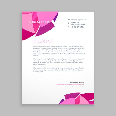 abstract business letterhead design template vector design illus - business letterhead