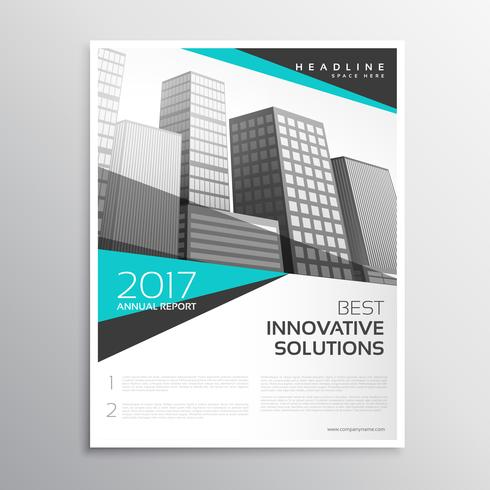 modern white and blue brochure annual report cover template desi