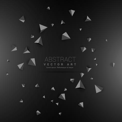 dark background with 3d triangle shapes - Download Free Vector Art