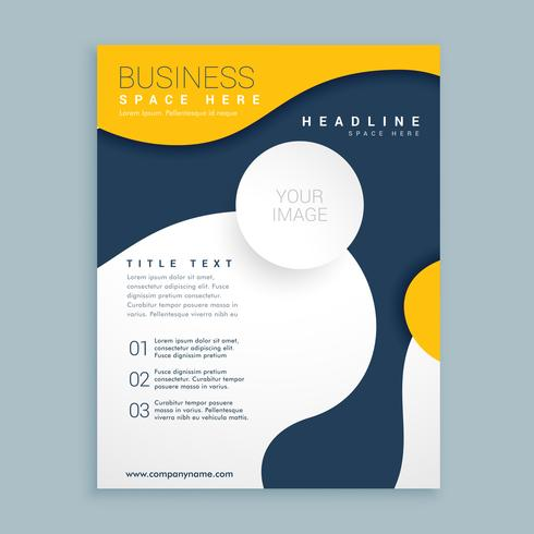 yellow cover brochure flyer design poster leaflet template for y - leaflet template