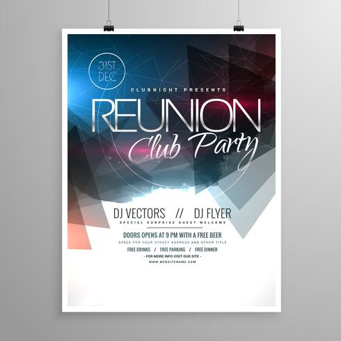 event club party flyer template brochure design - Download Free - party brochure template