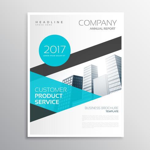 modern blue business brochure template poster flyer design - pricing brochure template