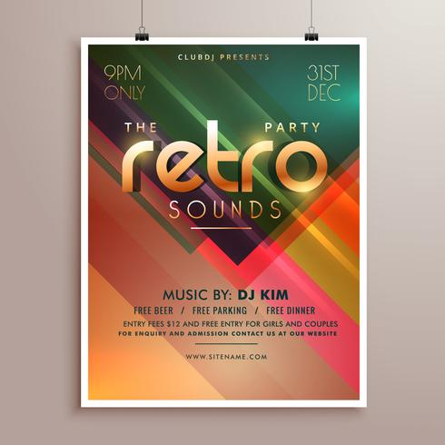 retro music party event flyer invitation template - Download Free - event flyer