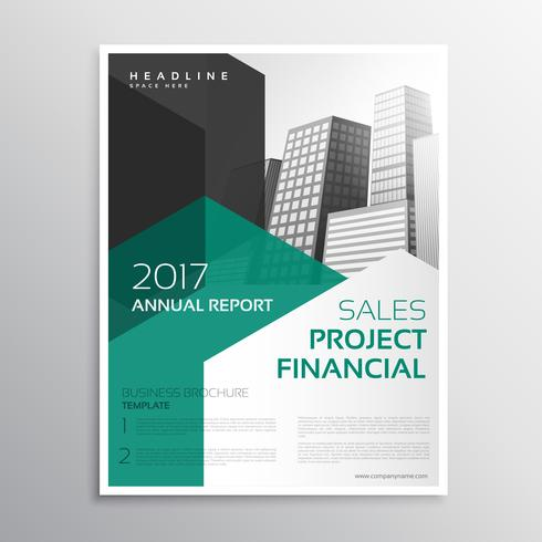 clean business brochure annual report template - Download Free