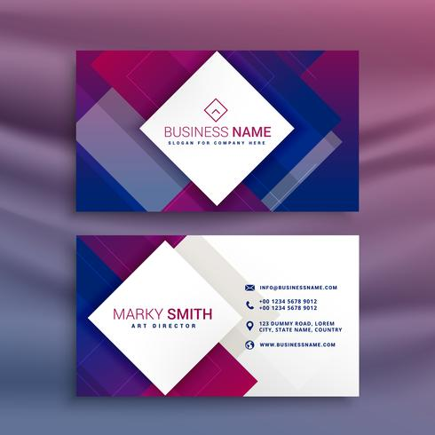 modern purple business card design for your brand - Download Free