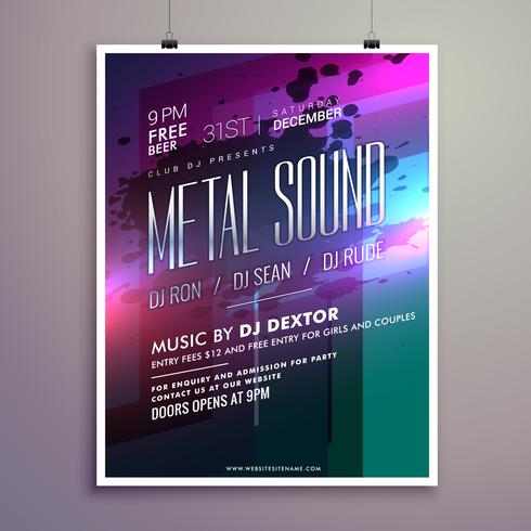 abstract music flyer template for new year celebration - Download - new year poster template