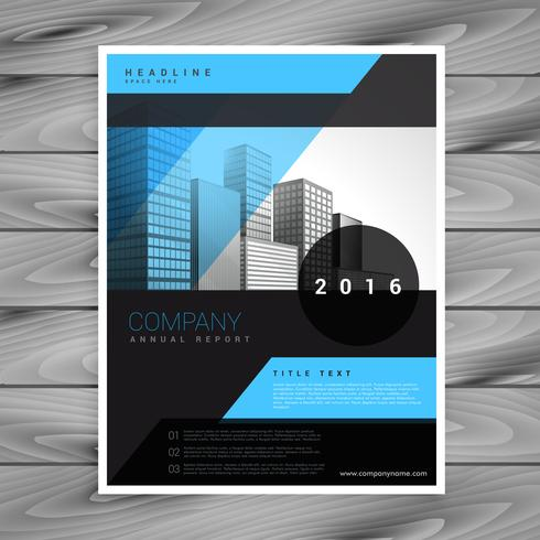 blue and black business brochure flyer template - Download Free