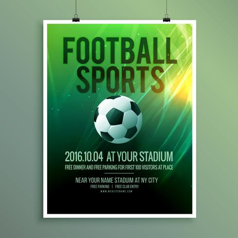 abstract vector football sports flyer poster template design in - competition flyer template