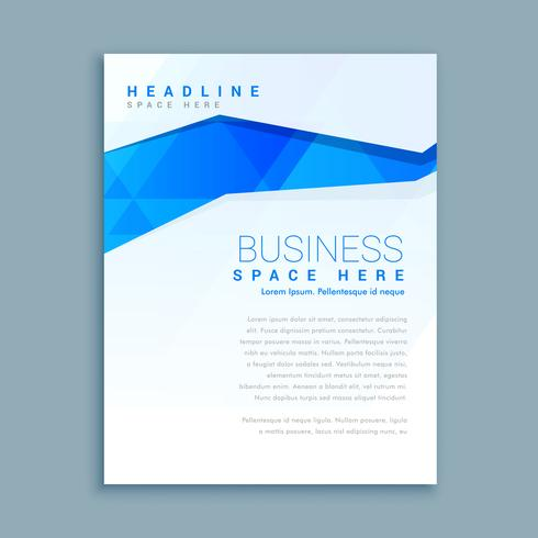 clean business brochure flyer template - Download Free Vector Art