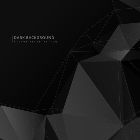 dark low poly background vector design illustration - Download Free