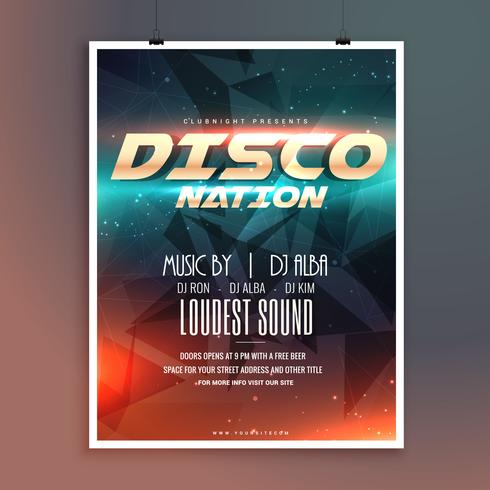 amazing disco nation music event flyer template - Download Free