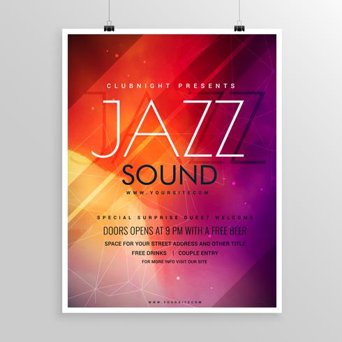 music sound party flyer invitation template - Download Free Vector