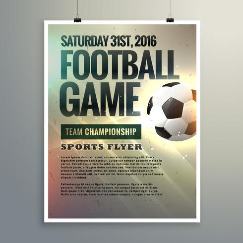 football event flyer design with tournament details - Download Free
