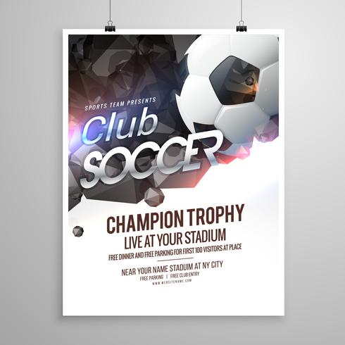soccer sports brochure flyer design template - Download Free Vector - free flayer design