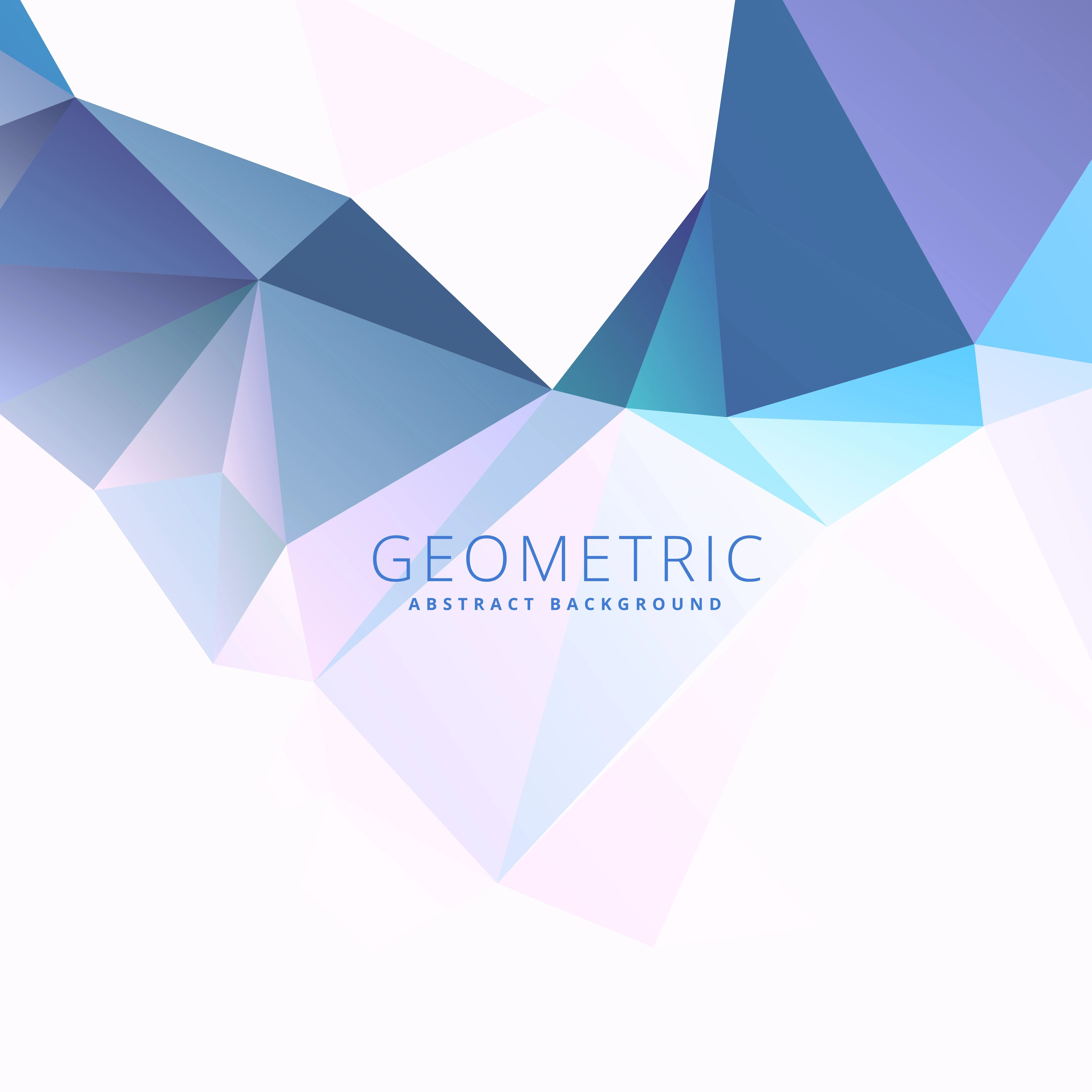 3d Geometric Shapes Wallpaper White Blue Low Poly Background Download Free Vector Art Stock