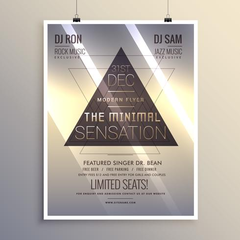 minimal flyer template for new year eve - Download Free Vector Art