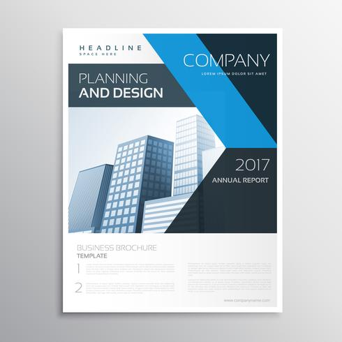 corporate brand business leaflet or brochure template with blue - leaflet template